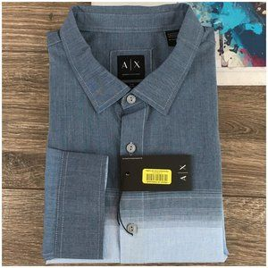 A/X Armani Exchange Slim Fit Long Sleeve Shirt New